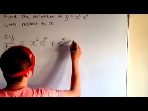 Maths Planet: Derivative of y=x².e^x (HSC Question)