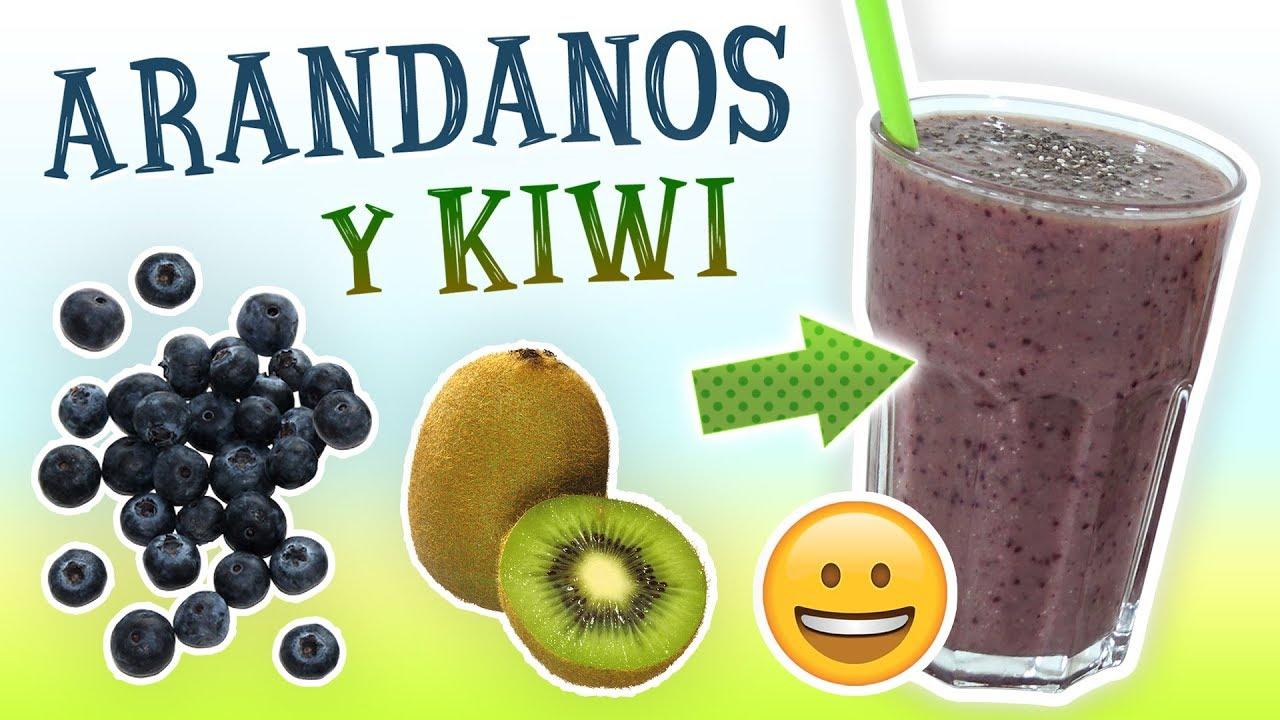 Batido de melon y kiwi para adelgazar