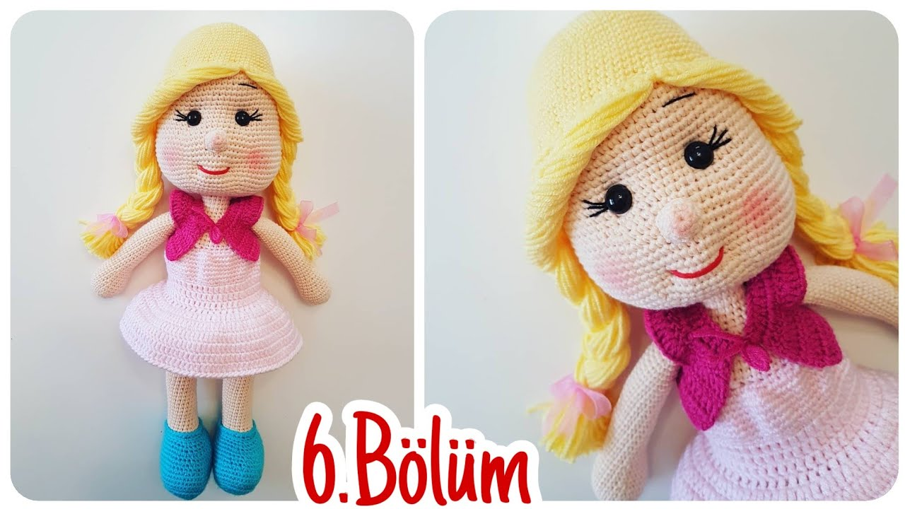 Amigurumi Bebekte Saç Yapımı : Amigurumi kız bebek yapımı bölüm birleştirme Örgü oyuncak