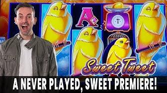 🔴 PREMIERE LIVE ➡ NEW Sweet Tweet Drop & Lock SLOT MACHINE  💸 Hitting GOLD!