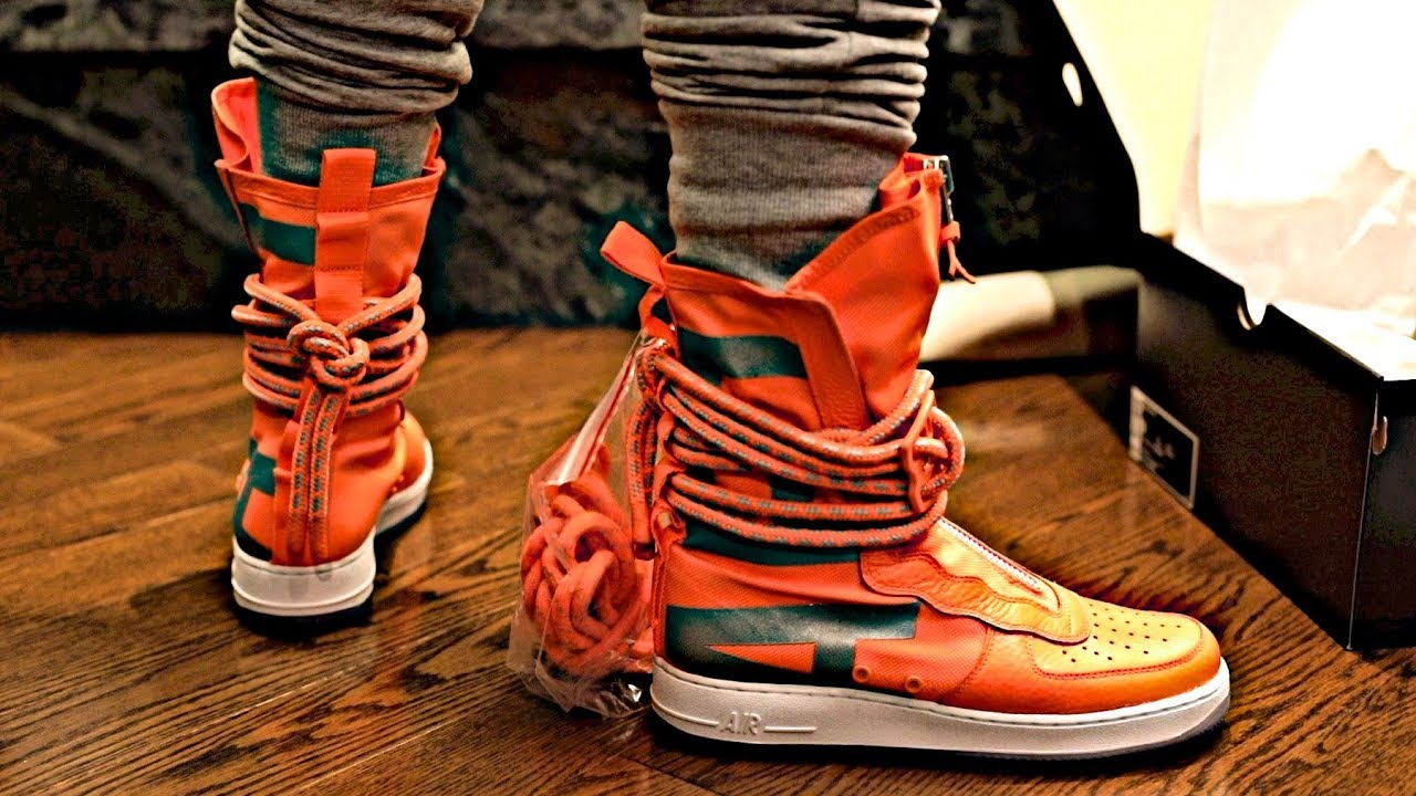Nike Review Special On Field Total Af1 High Sf Orange Sneaker Foot UnboxingPreviewAnd PXZikTuO