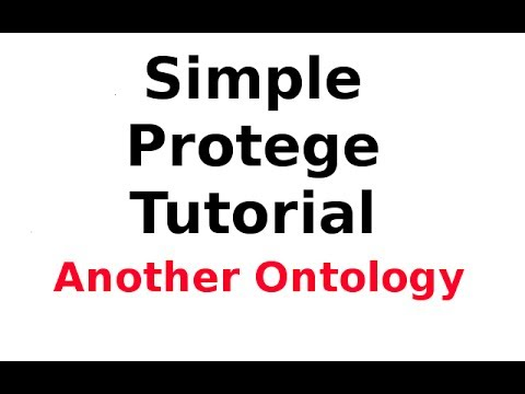 A Simple Protege Tutorial 9: Creating and Publishing Another Ontology