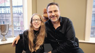 David Walliams and Lauren talk books and the CustomEyes service   Accessible Version