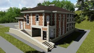 Проект дома на две семьи НУМИЗМАТ F-063 с цокольным этажом