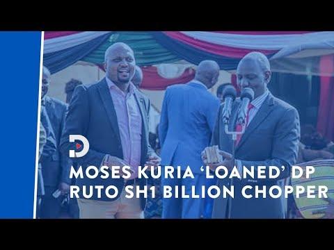 Moses Kuria 'loaned' DP William Ruto Sh1 billion tanga tanga chopper