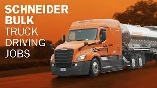 Schneider Tanker truck driving jobs