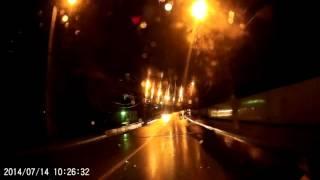 Калуга, техника моет город ночью в дождь 23.04.16