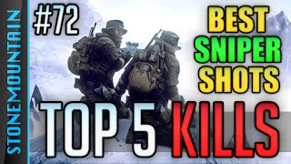 TOP 5 BATTLEFIELD 4 EPIC SNIPING KILLS (Headshots, Long Range, Feed, Lucky Best BF4 Sniper) WBCW #72