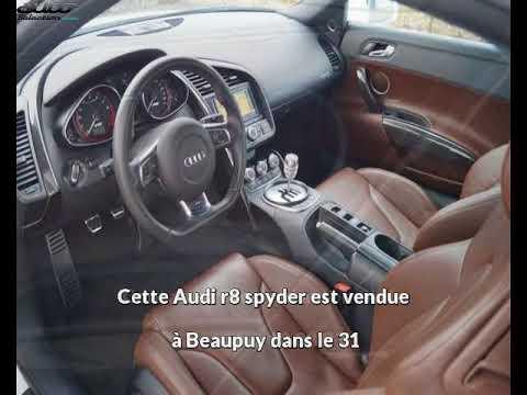 Audi r8 spyder occasion visible à Beaupuy présentée par Prestige automobile