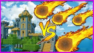 Minecraft - METEOR SHOWER VS CASTLE (Will it survive?)
