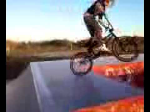 Bmx 360 tire tap over the volcano