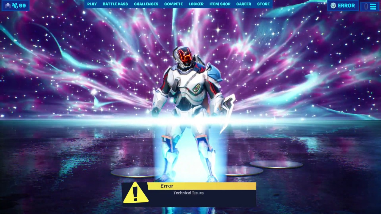 Getting Sucked Into Black Hole From Main Menu After Fortnite Live Event No Live Event Footage