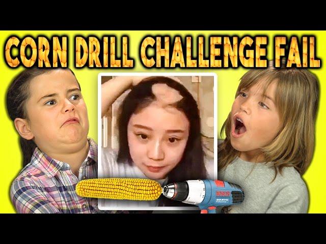 KIDS REACT TO CORN DRILL CHALLENGE FAIL