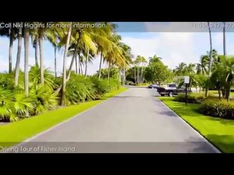 Driving Tour Of Fisher Island - Car Ride Through The Island