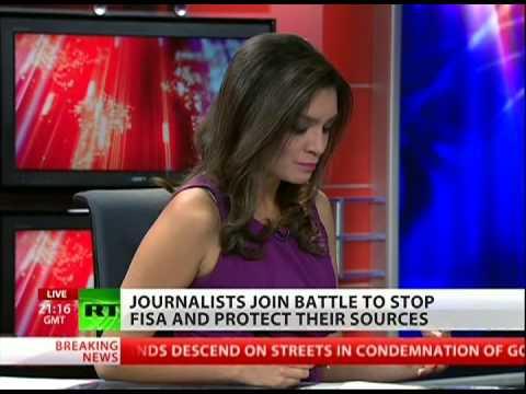 Journalists take on FISA wiretapping