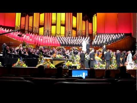 Katherine Jenkins sung to by the Mormon Tabernacle Choir
