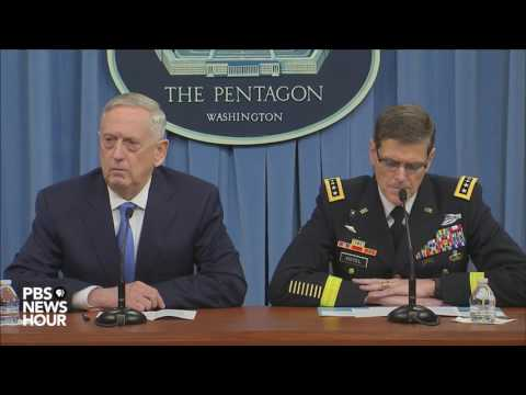 Watch Defense Sec. Mattis and CENTCOM Commander speak on Syria attack