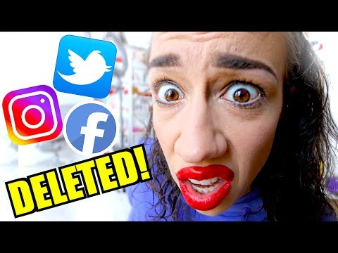 WHY I DELETED ALL OF MY SOCIAL MEDIAS