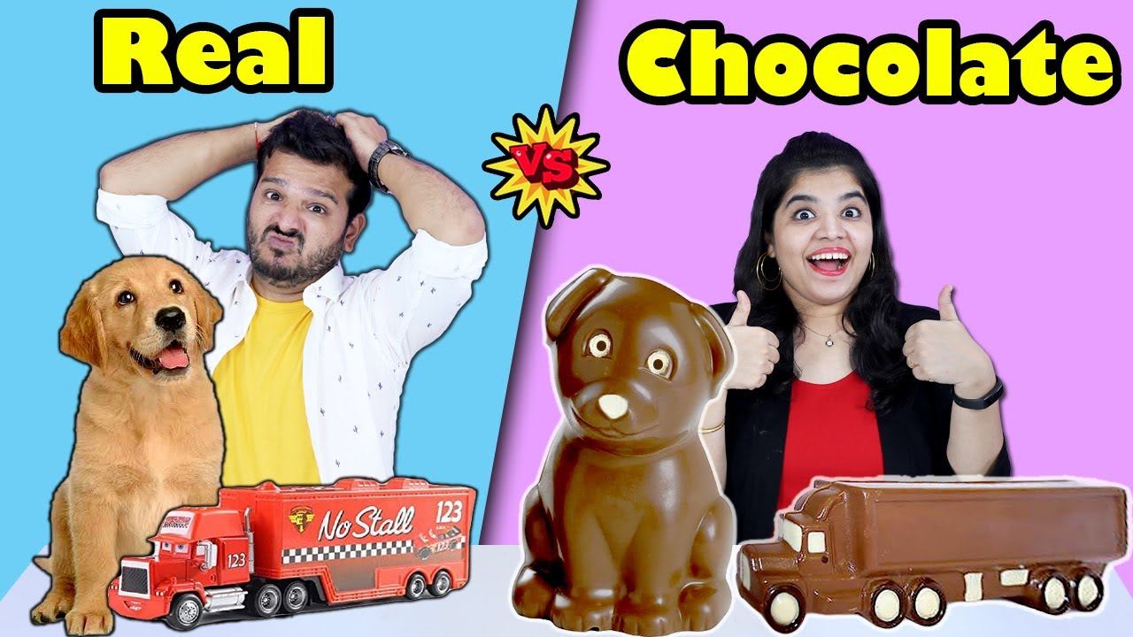 Download CHOCALATE VS REAL FOOD CHALLENGE | HUNGRY BIRDS