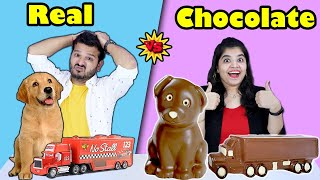 CHOCALATE VS REAL FOOD CHALLENGE | HUNGRY BIRDS