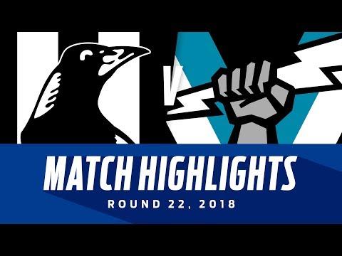 Collingwood V Port Adelaide Highlights | Round 22, 2018 | AFL