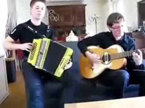 White dutch boys playing some mexican  music