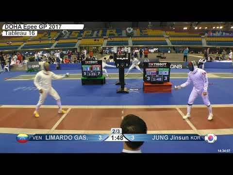 2018 387 M E Individual Doha QAT GP T16 07 red JUNG KOR vs LIMARDO GASCON VEN