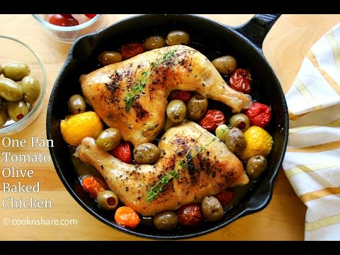 One Pan Tomato And Olive Baked Chicken (Made Easy)