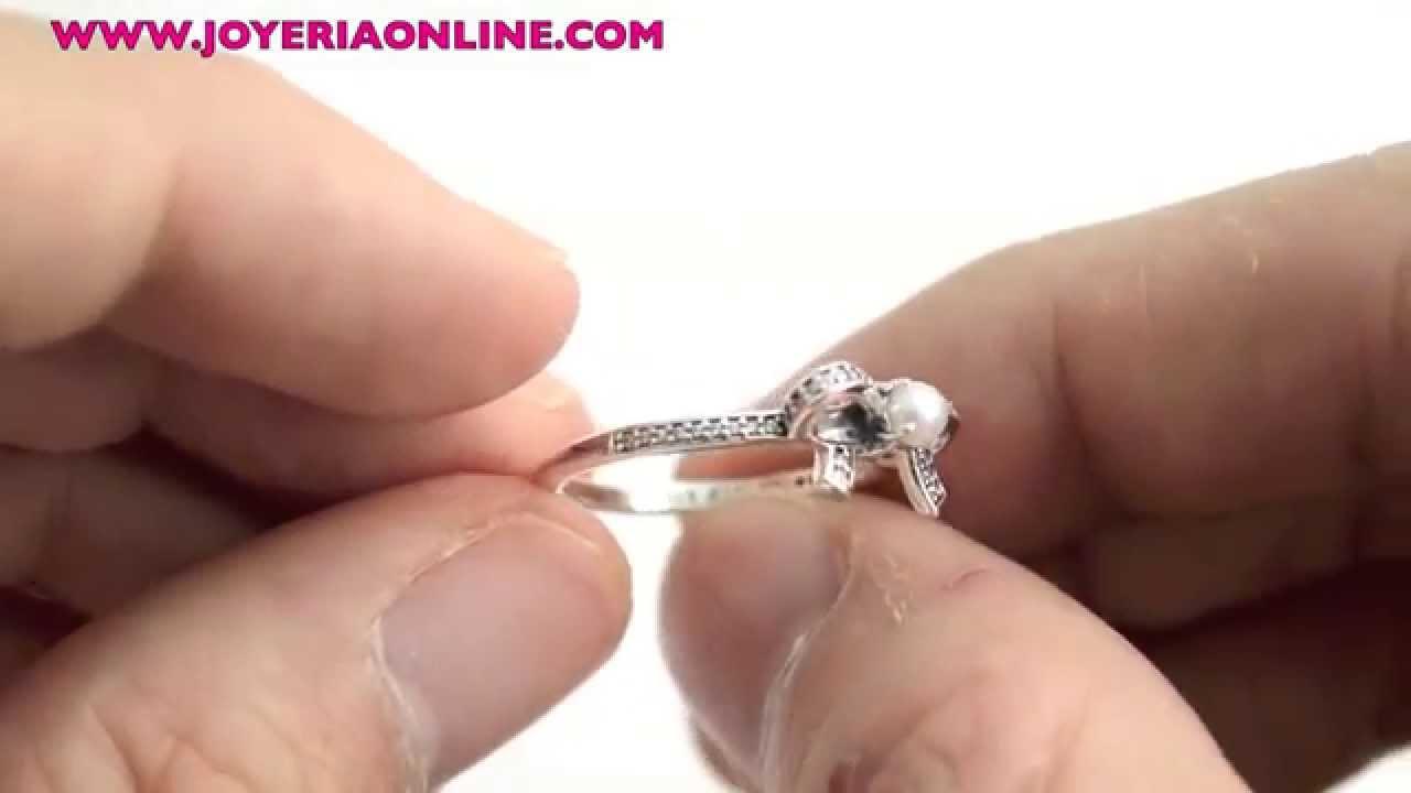 anillo pandora con perla