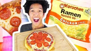 DIY 2$ Ramen PIZZA!!!