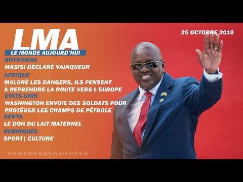 LMA Le Monde Aujourd'hui du 25 octobre 2019