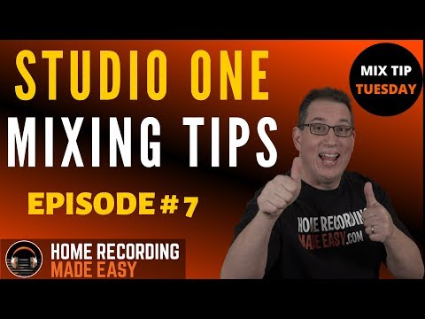 ADDING SATURATION 1ST PLUGIN : Studio One Mixing Tips : Mix Tip Tuesday : Episode # 7