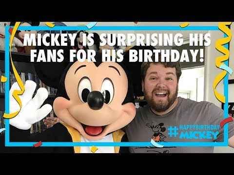 Mickey Surprises His Fans For His Birthday 2017 | Disney