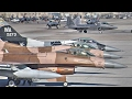 USAF Air Combat Exercise: Fighters Takeoff/Landing During Red Flag 17-1