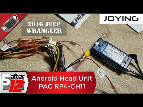 Universal Joying Android head unit wiring harness - PAC RP4-CH11 Radiopro4 on