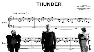 Baixar Imagine dragons - Thunder (easy piano sheet)