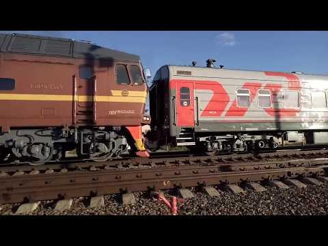 ТЭП70-0500 приписки ТЧ Елец-Северный со скорым поездом 86 Климов - Москва на станции Клинцы.