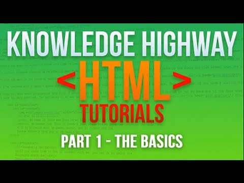 How to program in HTML #1 - The Basics