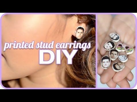 DIY ♥ Celebrity Face Earrings!