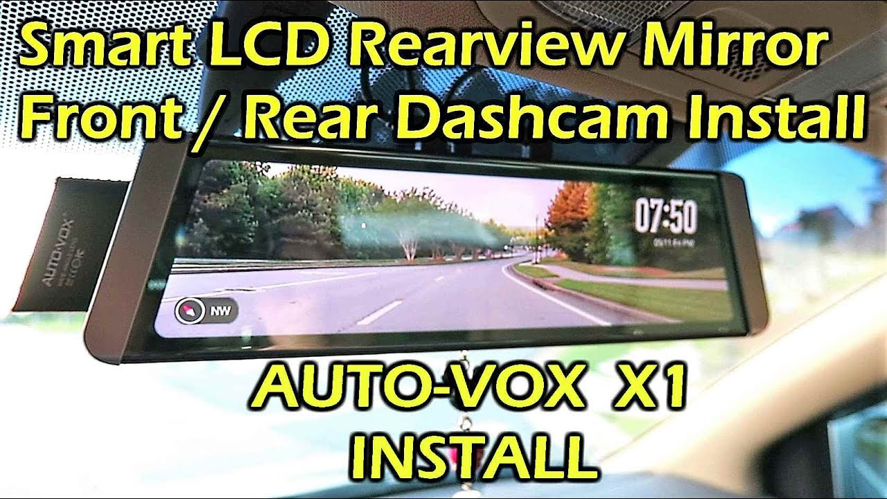 auto vox x1 fullscreen lcd rearview mirror dashcam install. Black Bedroom Furniture Sets. Home Design Ideas