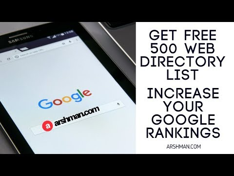 Free web directory submission list 2018