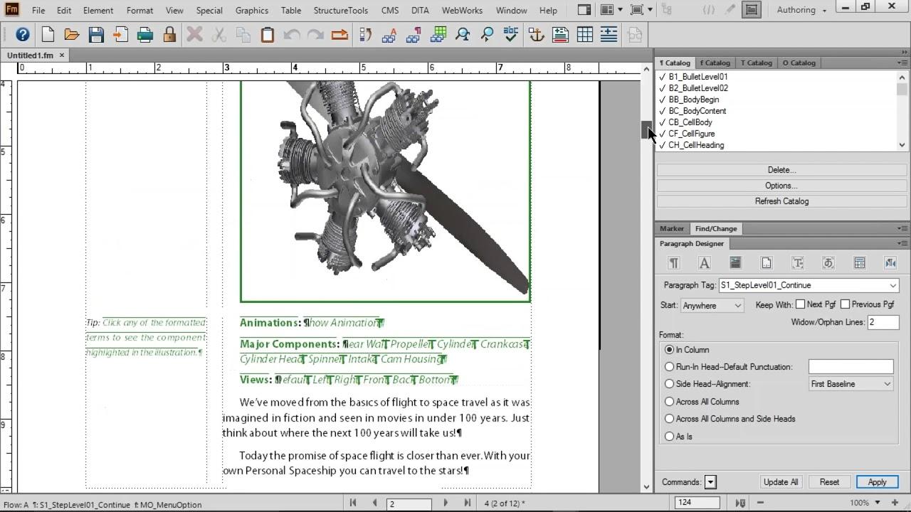 Adobe FrameMaker 2015, Basics of Paragraph Design, Character Design ...