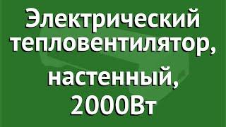 Электрический тепловентилятор, настенный, 2000Вт (Scoole) обзор SC FH MC 20 04