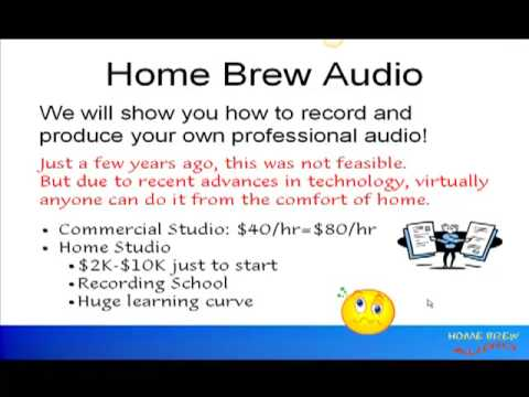 Home brew audio introduction home recording made easy youtube home brew audio introduction home recording made easy ccuart Choice Image