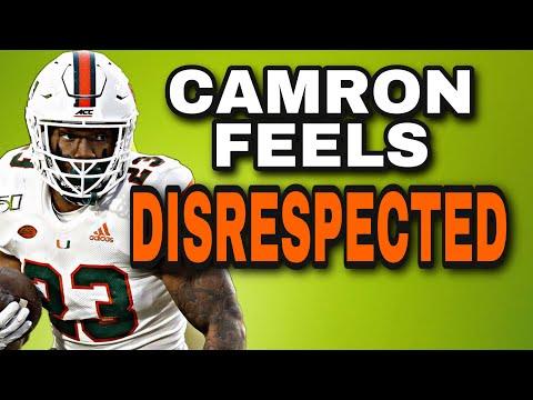 Camron Harris Tweets he's disrespected after the VIRGINIA GAME! | VIRGINIA vs Miami Football |