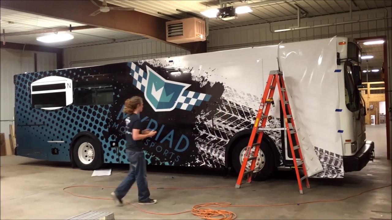 1d1357cf69 Installation of Custom Full Color Bus Wrap in Fargo