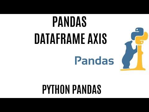DataFrame Axis  In Pandas   Axis Pandas   Python Axis