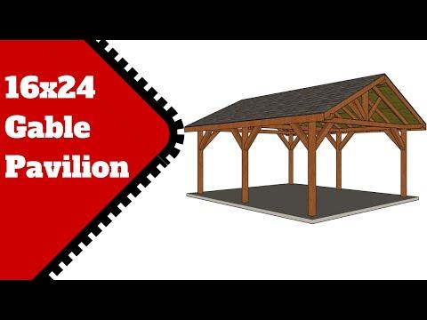 16x24 Pavilion Plans