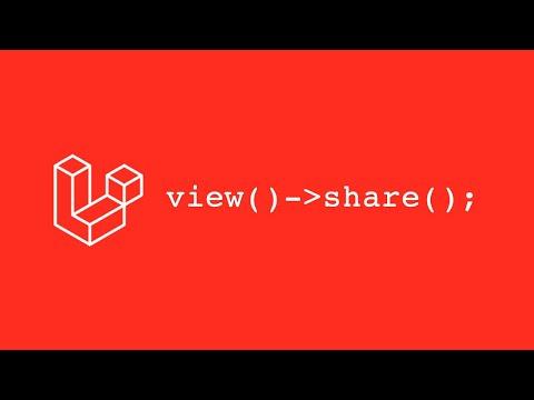 Vídeo no Youtube: [Laravel] - View Share | Compartilhando Dados entre com views #laravel #php