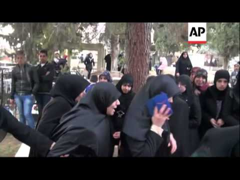 Funeral of woman and daughter killed in blast in Hezbollah stronghold on Thursday
